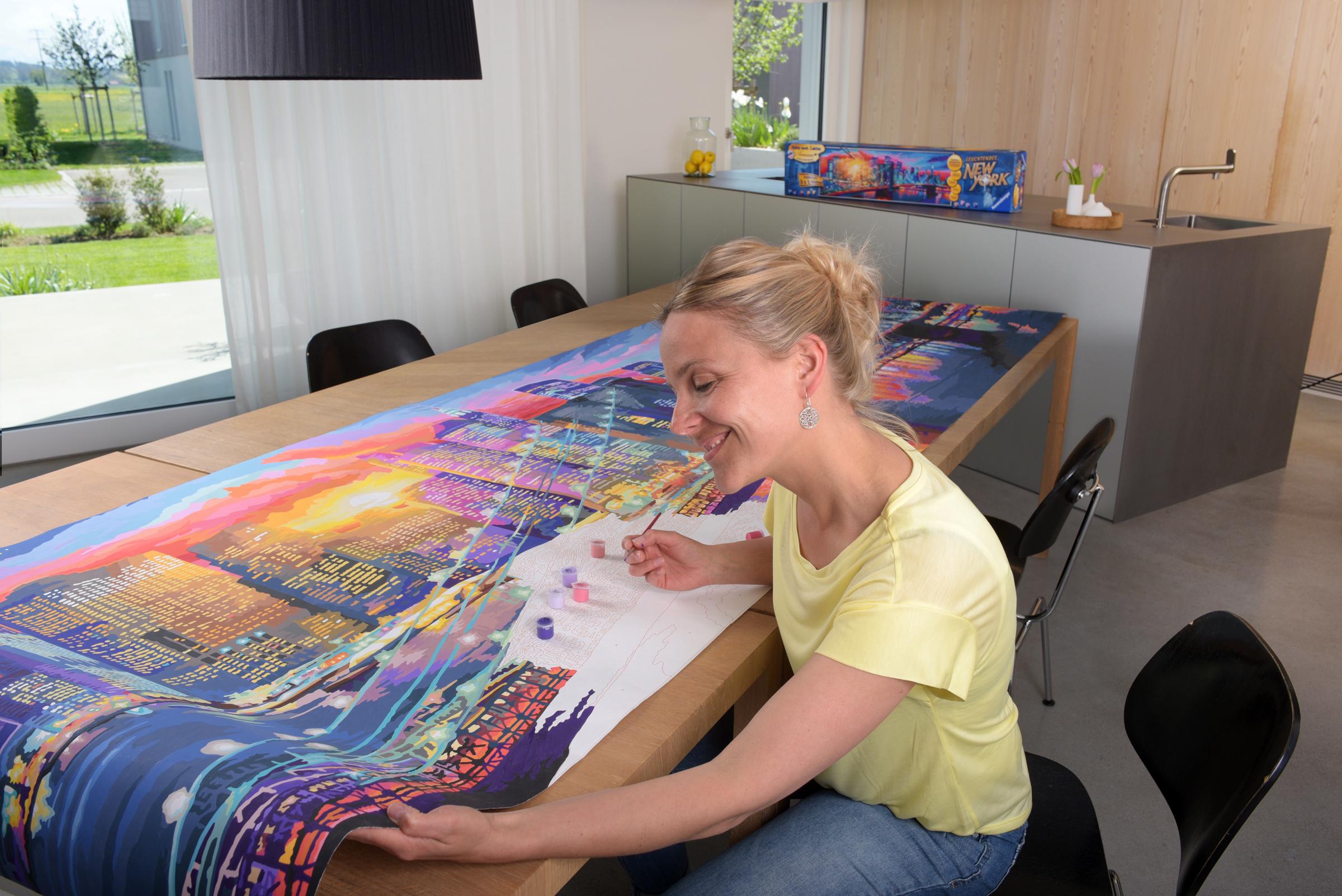 Rekordverdächtig Das Größte Malen Nach Zahlen Von Ravensburger